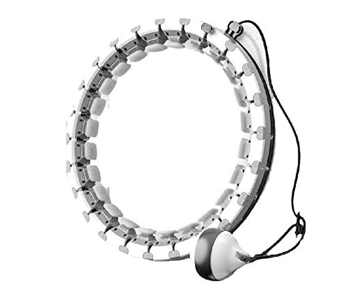 SDGSDG Smart Hula Hoop Fitness Masaje,Ajustable/Masaje Envolvente-Grey_21 (60kg) /Hacer Cintura Delgada, Equipo Deportivo Adecuado para Adultos, Principiante