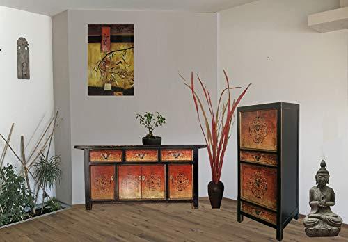 Muebles Chinos combinación Shabby Chic Vintage, aparador asiático, Comoda Armario gabinete Chino