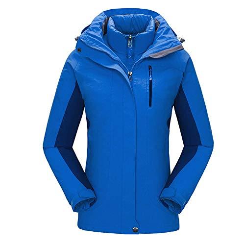 HoGau jas, verstelbaar, comfortabel, voor vrouwen, ski-jack, winddicht, waterdicht, winterjas, fleece, voor regen, sneeuw en wandelen