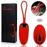 Masajeador para Mujer, 12 Modos de Frecuencia Inalámbrico Control Remoto, Silicona Suave, Impermeable, Carga USB
