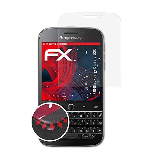 atFolix Schutzfolie kompatibel mit BlackBerry Classic Q20 Folie, entspiegelnde & Flexible FX Bildschirmschutzfolie (3X)