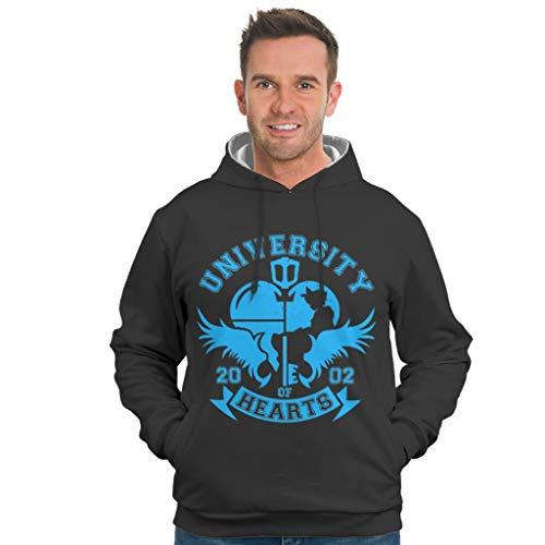 EPLstar Herren Oversized Hoodies University of Hearts Langarm Sweatshirt Pullover Rundhals Für Mädchen White XL