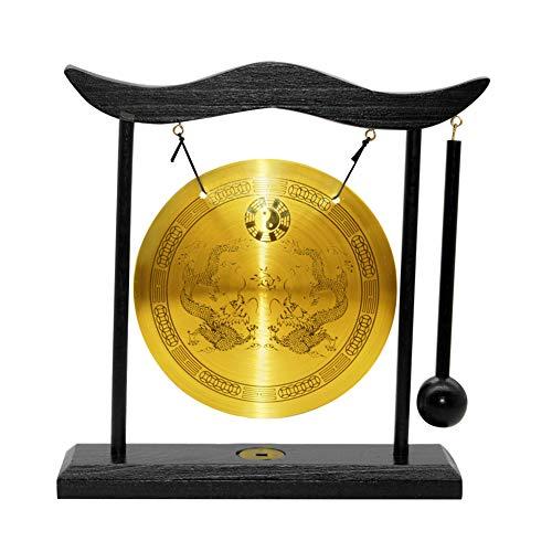 Hooshing Feng Shui Gong Brass Desktop Zen Art Home Decor Housewarming Congratulatory Blessing Gift