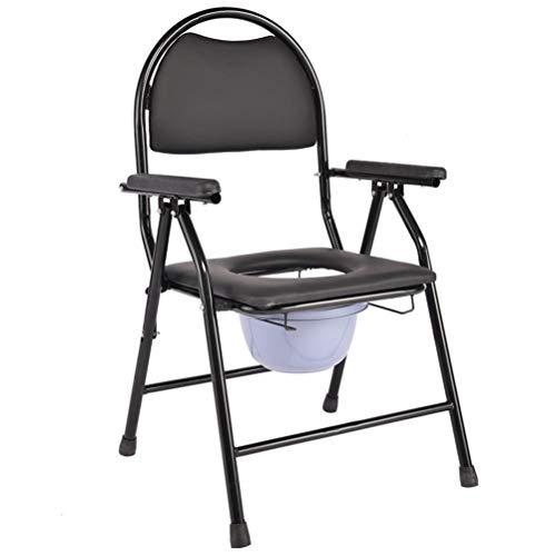 Wolong WC-stoel, nachtkastje, armleuningen, zwart