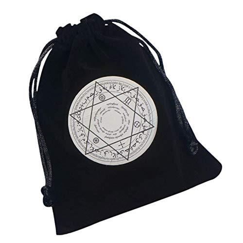 iu Mandala Spirituale Borsa per Tarocchi E Dadi I Custodia in Velluto E Raso con Coulisse Dimensione Ideale per Carte di Tarocchi E Oracoli, DND, D&D,