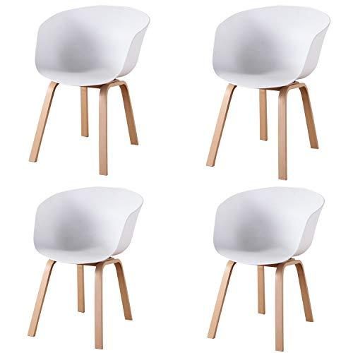 Muebles Home - Set di 4 sedie per sala da pranzo, stile retrò, sedia da cucina, con schienale e gambe in ferro, per sala da pranzo, camera da letto, sedie laterali