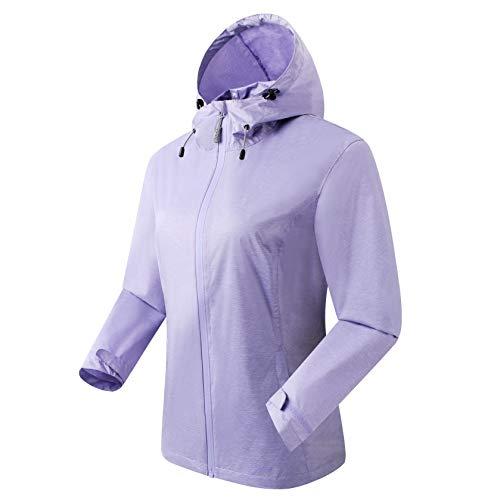 Eono Essentials giacca antipoggia da donna, lilla, M giacca impermeabile