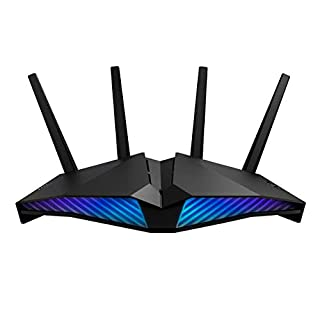 ASUS RT-AX82U 5400 Dual Band + Wi-Fi 6 Gaming Router, PS5 Compatible, up to 2000 sq ft & 30+ devices, Mobile Game Mode, ASUS AURA RGB, Lifetime Free Internet Security, Mesh Wi-Fi support, gaming port (B08CBC2WH2) | Amazon price tracker / tracking, Amazon price history charts, Amazon price watches, Amazon price drop alerts