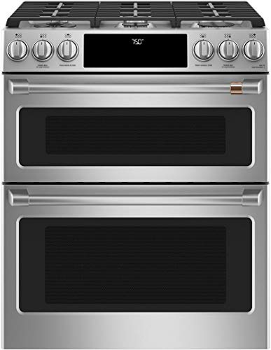 Cafe 30″ ADA Slide-In Front Control Gas Double Oven With Convection Range