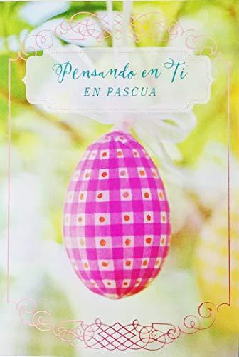 Pensando en Ti En Pascua - Happy Easter Greeting Card in Spanish