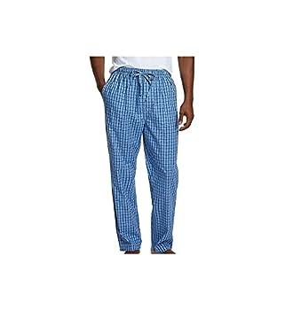 Nautica Men s Soft Woven 100% Cotton Elastic Waistband Sleep Pajama Pant French Blue Large