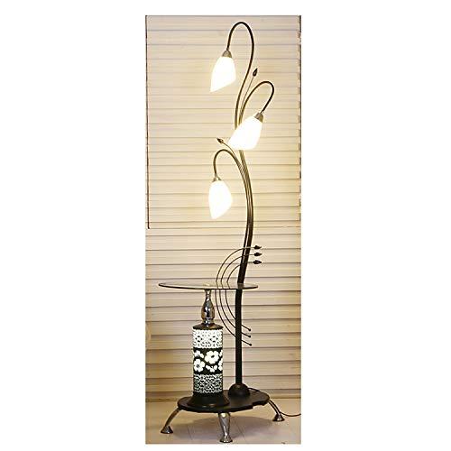 FENG LIAN Creatieve smeedijzer-bloemen-staande lamp, moderne minimalistische woonkamer met salontafel-staande lamp, slaapkamer-hoekbank creatieve schoonheids-staande lamp staande lamp