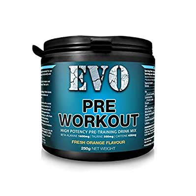 Pre Workout Supplement | Extreme Pre Workout Powder | 31 Servings | Food Supplement | Preworkout Drink with Beta-Alanine, Taurine, Creatine Monohydrate, Caffeine (Fresh Orange)