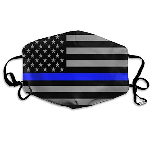 Gezichtsmaskers met Amerikaanse vlag, wit en zwart, voor sport, smiley, stofdicht, wasbaar, herbruikbaar.