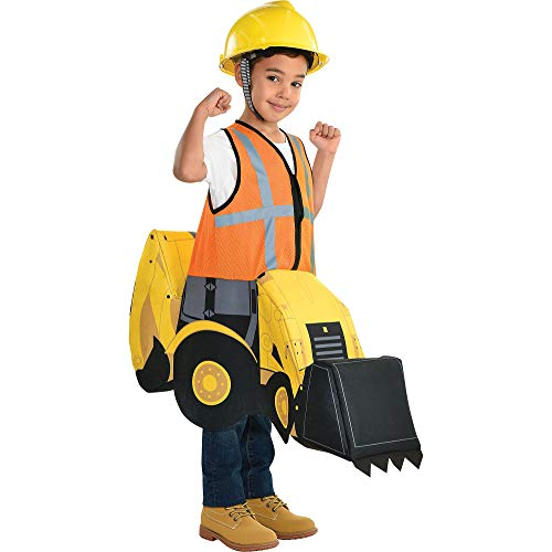 Party City Construction Digger Ride-On Halloween Costume for Children, Small, Includes Tractor Rider Suit
