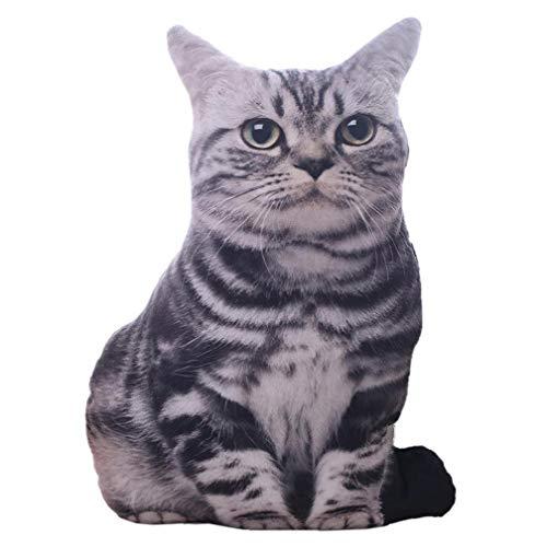 3D Regalos del Gato Almohadas Simulación Realista Rellena Felpa Cojines Creativos Hogar Cama Sala De Estar Oficina Decorativo