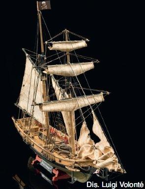Mamoli - Modello kit barca BLACKBEARD Wooden ship model kit scala - DUS_MV82