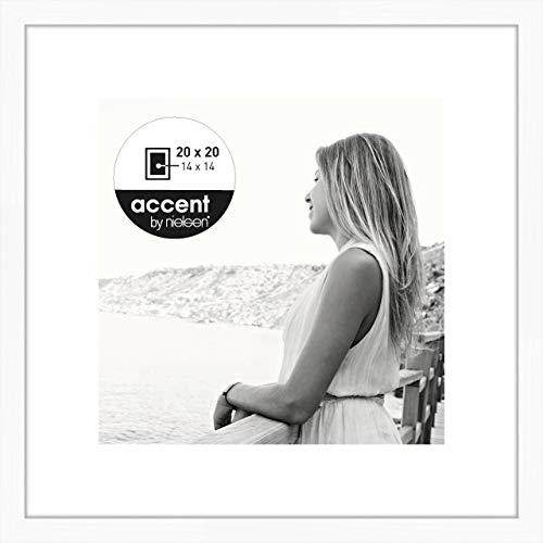 Nielsen Accent Holz Bilderrahmen Aura, 20x20 cm, Weiß
