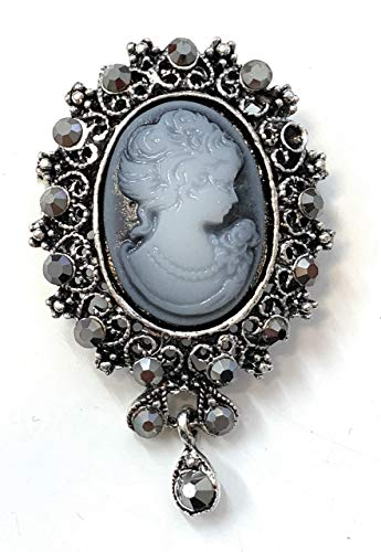 Caprilite Vintage Retro Style Victorian Lady Cameo Brooch Bag Pin Charm