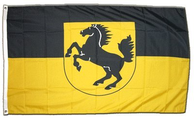 Flagge Deutschland Stadt Stuttgart - 90 x 150 cm