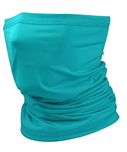 Ice Silk Cooling Neck Gaiter Bandana Mask Face Scarf Balaclava for Men & Women Lake Blue