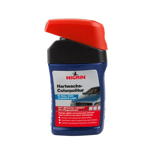 NIGRIN 72946 Hartwachs-Colorpolitur Blau 300 ml