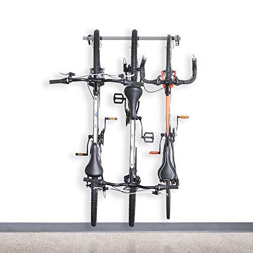 NinoLite B129 壁掛け 自転車用最大3台分スタンド 90キロ負荷可能! フック左右移動簡単 縦置き スリムなデザイン スペース節約 ディスプレイフック保管 高級仕上 日本語取り扱い説明書付き