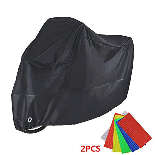 Telo Coprimoto Impermeabile, Impermeabile e Antivento - Anti-polvere e Antifurto, Con Sacca per Il Trasporto, Colore: Nero,190T Anti UV per Moto Motorino Motociletta - 245 * 105 * 125cm(XXL)