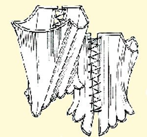 """1700's Stays Pattern (Size 18- Bust size 44"""")"""