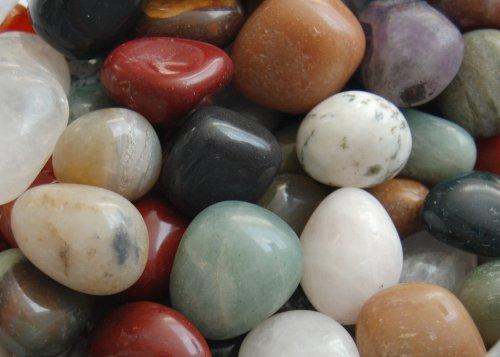 Edelsteine, polierte Trommelsteine, bunte Mischung, Größe ca. 1,5-2 cm, 250 g-Beutel