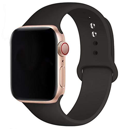 Correa de silicona suave para Apple Watch Series 6 5 4 3 2 SE 38MM 42MM 40MM 44MM Correa de caucho para reloj-29 Cocoa, 38mm o 40mm SM