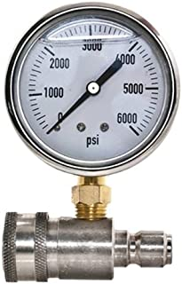 New Stainless Steel Adaptor & Pressure Gauge Kit for Pressure Washers by APW Distributing