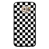 Black and White Checkered Case for Galaxy S6 - Replacement Cover for Samsung S6