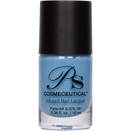 PS Polish All Natural Anti-fungal Nail Polish, Safe Non-Toxic Professional Grade Nail Art and Polish Nail Lacquer, Best Nail Polishes for Manicure, Pedicure, Hands, Feet and Nails (Summer Sky)