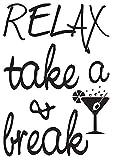 stickers muraux batman Détendez-Vous, Prenez Un Vin Et Faites Une Pause