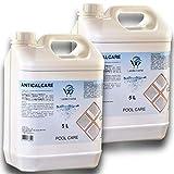 LordsWorld Pool Care - 10lt(2 X 5Lt) desincrustante líquido Evita la formación depósitos Cal -...