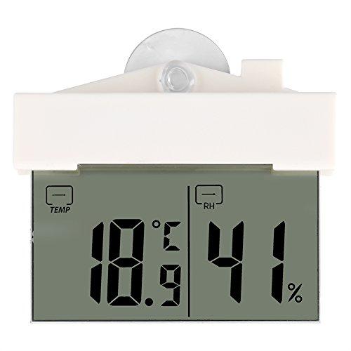 Humidité Mètre, Multifonctionnel Température Humidité à Domicile avec Ventouse Moniteur LCD Digital Thermomètre d'intérieur avec Min/Max Records, ° C/° F Switch, des Mesures de précision pour Bureau