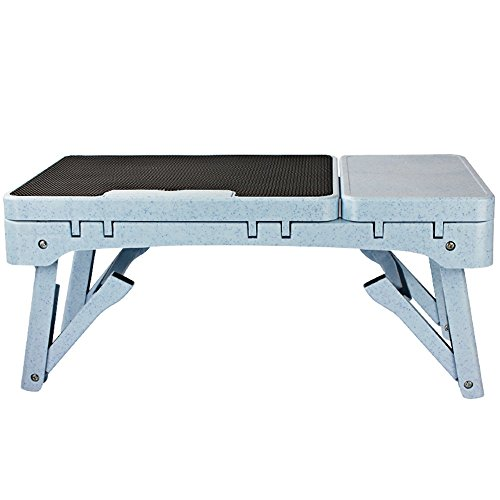 GYH zhuozi LJHA Bureau d'ordinateur Se Pliant/muet/Chaleur Occasionnelle/Table d'ordinateur Portable/Pliage Livre Bureau / 2 Couleurs en Option / 53 * 37,5 * 27,5 cm Table (Couleur : Noir)