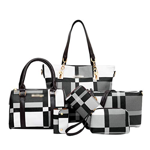 Ketamyy Ladies 6 Piece Purse Set Large Tote Handbags for Women Handbag...