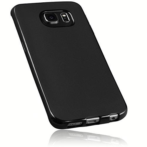 mumbi Hülle kompatibel mit Samsung Galaxy S6 Edge Handy Case Handyhülle, schwarz