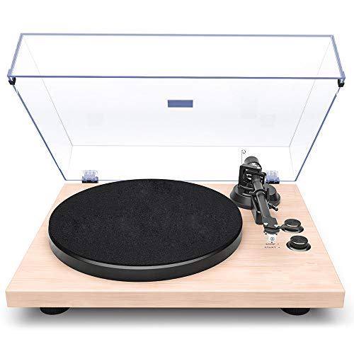 Buy ZHILONG White 2 Speed Portable Record Player Record Player with Built in Speakers Upgraded Turnt...