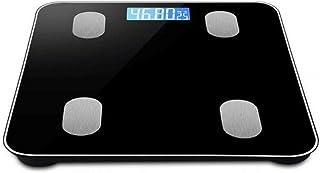 HJTLK Báscula de baño Digital, Báscula de Peso Báscula de Grasa Corporal, LCD Digital, aplicación Bluetooth Inteligente Báscula de baño Digital, máx. 180 kg, Rosa