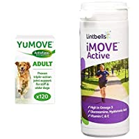 As seen on TV - the UK's No.1 veterinary joint supplement brand enjoyed by happier, healthier dogs. Kynetec VetTrack September 2020. Sales of YuMOVE branded products through veterinary wholesalers Soothes stiff joints - Lintbells ActivEase green lipp...