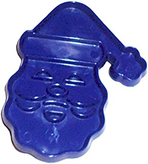 Tupperware Vintage Imprint Cookie Cutter Santa Claus Face in Blue