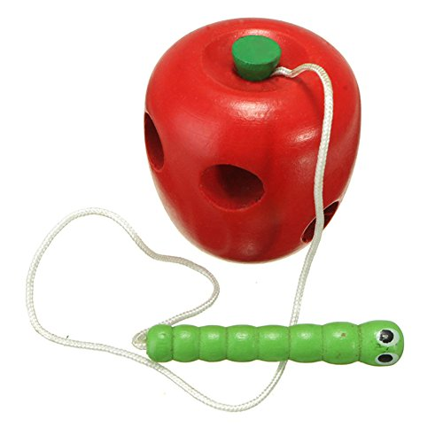 Blue Vessel Obst spielzeug Baby Wood Fruit Lacing Activity Toy Kinder Obst Holz Puzzle-Spielzeug Entwicklung der Intelligenz Fehler Essen Obst (A)