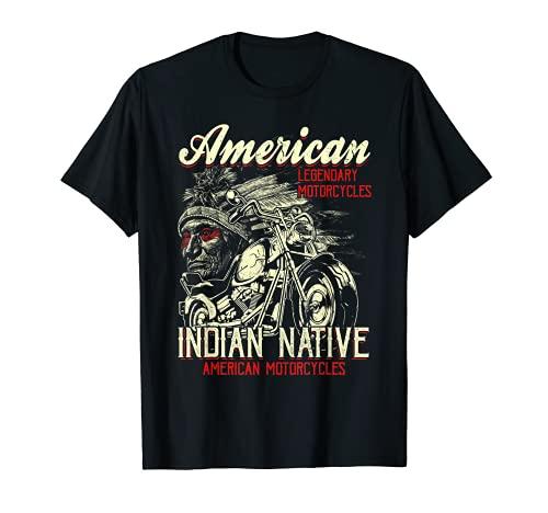 Retro Vintage American Motorcycle Indian for Old Biker Gifts Camiseta