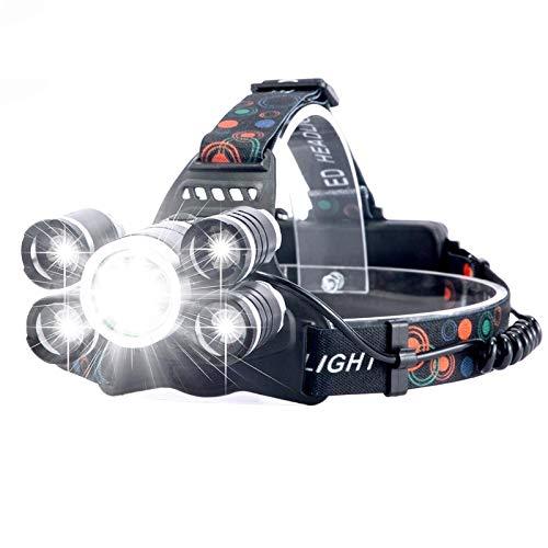 Linterna Frontal LED,Linterna Cabeza,USB Recargable,20000 lúmenes Led faro de pesca faro T6 más brillante cabeza antorcha linterna faro Lampe Frontal Use 18650