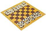 HYJMJJ Juego de ajedrez portátil International Chess Board Juego Gourd Chess Box Educational Toy Portable Travel Chess Set Family Board Juego Ajedrez de Madera con Juego de Mesa de ajedrez ple