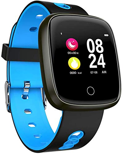 Impermeable IP67 Bluetooth reloj inteligente de presión arterial del corazón Fitness Tracker con modo deportivo, monitor de sueño, podómetro de calorías, color rojo, azul