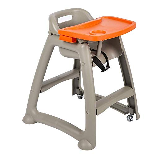 FTFTO Living Decoration Baby Highchairs High Chair Children's Hotel Baby Table Child seat Plastic with Cushion (Color : #1)